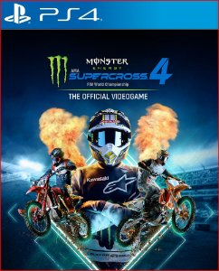 MONSTER ENERGY SUPERCROSS - THE OFFICIAL VIDEOGAME 4 PS4 MÍDIA DIGITAL