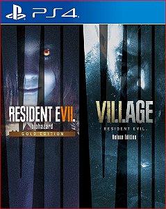 PACOTE COMPLETO RESIDENT EVIL VILAGE  & RESIDENT EVIL 7 PS4 MIDIA DIGITAL