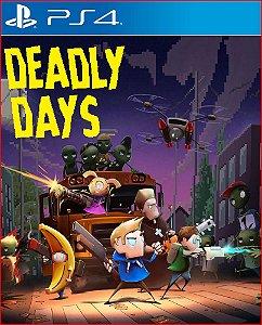 deadly days ps4 mídia digital