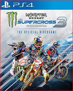MONSTER ENERGY SUPERCROSS - THE OFFICIAL VIDEO GAME 3 | PS4 MÍDIA DIGITAL PSN