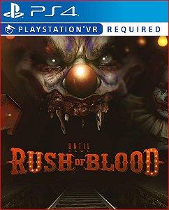 Until dawn rush of blood PS4 MÍDIA DIGITAL