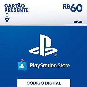 psn card | gift card cartão psn R$ 60 reais playstation network brasil