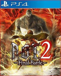 attack on titan 2: final battle ps4 mídia digital promoção