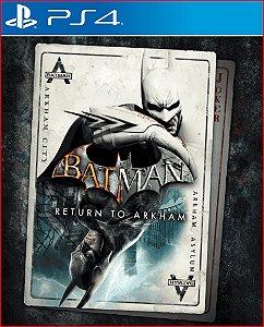 batman return to arkham ps4 mídia digital