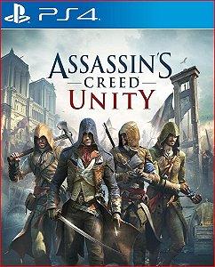 assassin's creed unity ps4 mídia digital promoção
