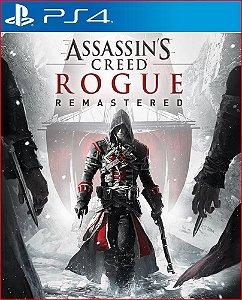 assassin's creed rogue remastered ps4 mídia digital promoção