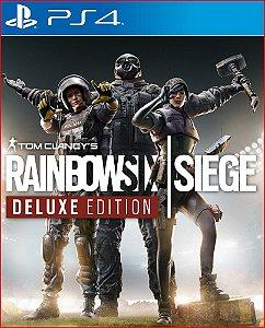 tom clancys rainbow six siege deluxe edition ps4 mídia digital