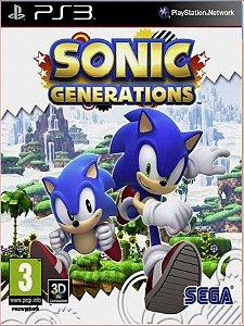 SONIC GENERATIONS PS3 PSN MÍDIA DIGITAL