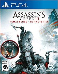 Assassin's creed iii remastered ps4 mídia digital