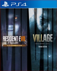 Pacote Completo Resident Evil Village & Resident Evil 7 PS4 mídia digital