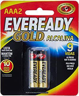 PILHA AAA ALCALINA PALITO C/2 - EVEREADY GOLD