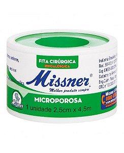 FITA CIRÚRGICA MICROPOROSA 2,5CM X 4,5MT - MISSNER