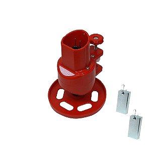 Maquina de Tricotin Resistente e Durável Cor Vermelha- TRICORD