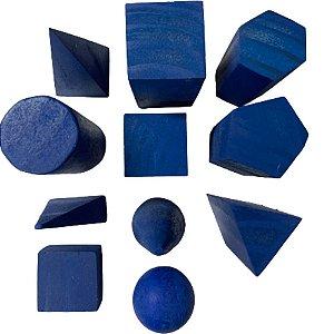 Sólidos Azuis Geométricos - 11 peças