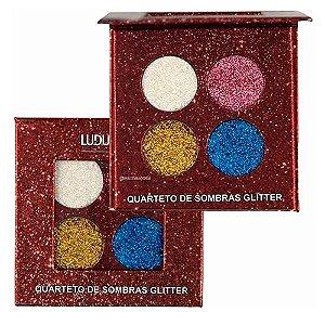 Quarteto de Sombras Glitter - Ludurana