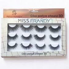 Cílios Postiços Artesanal 3D 6 pares Miss Frandy
