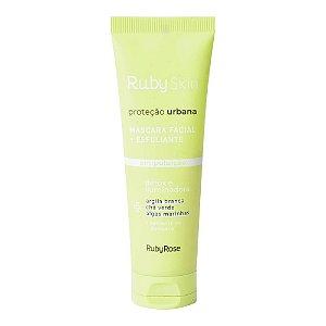 Máscara Facial + Esfoliante Antipoluição Ruby Skin