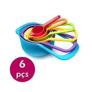 Kit 6 Medidores Colher Sopa Copo Dosadora Para Cozinha Bolos