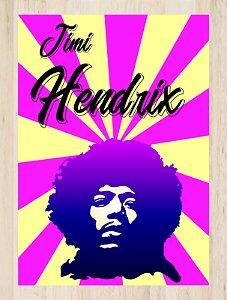 Quadro Decorativo Jimi Hendrix com Moldura e Vidro