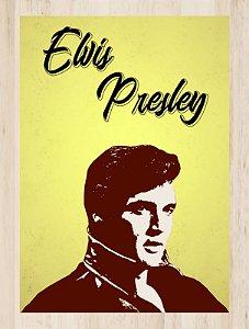 Quadro Decorativo Elvis Presley com Moldura e Vidro