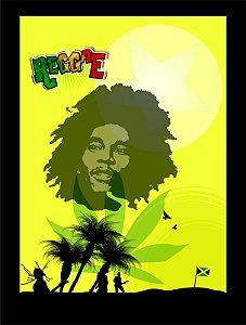 Quadro Decorativo Reggae com Moldura e Vidro