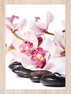 Quadro Decorativo Flor  Com Moldura E Vidro