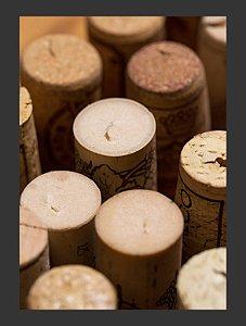 Quadro Decorativo rolha vinho bebida Com Moldura E Vidro