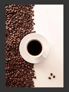 Quadro Decorativo cafe bebida Com Moldura E Vidro