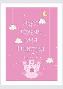 Quadro Quarto de Princesa  com Moldura E Vidro
