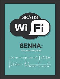Quadro Senha Wifi com Moldura E Vidro