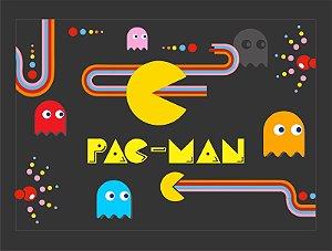 Quadro Games Vintage Pac-Man com Moldura E Vidro