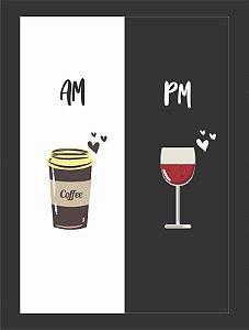 Quadro Café Vinho com Moldura E Vidro