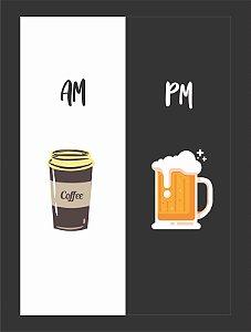 Quadro Café chopp cerveja com Moldura E Vidro