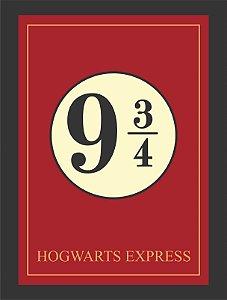 Quadro Estação Hogwarts Express Harry Potter Moldura E Vidro