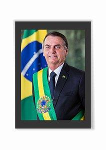 Quadro Presidente Jair Bolsonaro Moldura E Vidro