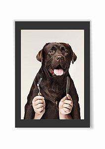 Quadro Cachorro Dog Pet Moldura E Vidro Presente