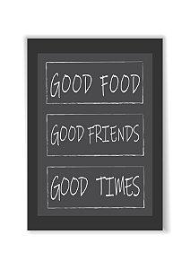 Quadro Good Foods Friends Times Moldura E Vidro Presente