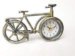 Relógio De Mesa Com Despertador Bicicleta  Bike Decoração