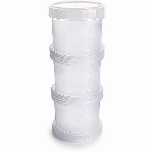 Conjunto Organizador 3 Potes Com Rosca Transparente