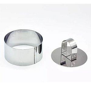 Forma Modeladora Em Aço Inox Mousses Ovos Mini Bolos 8cm