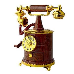 Caixa De Música Porta Jóias Telefone Antigo Vintage