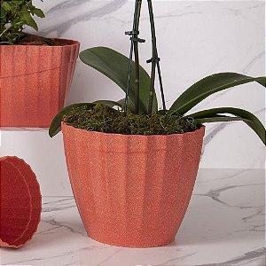 Jogo 3un Vaso Plantas Cachepot 16x12cm Diversas Cores
