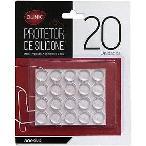 Protetor de Silicone Redondo 20pçs pingo 1CM  anti-impacto