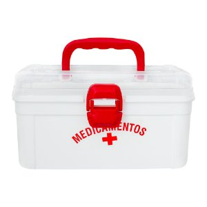 Maleta Para Remédios Medicamentos Caixa Organizador Com Alça 24x16