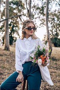 Camisa Branca Vintage