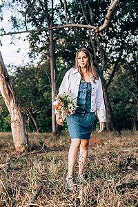 Jaqueta Jeans Branca OCTOPUSSY (M)