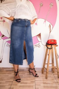 Saia Comprida Jeans (44/46)