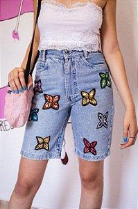 Bermuda Jeans Borboletas (36)