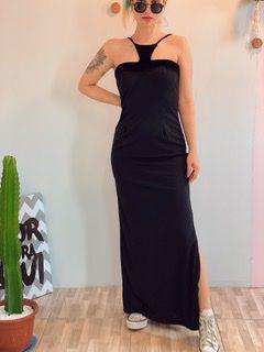 Vestido vintage midi black