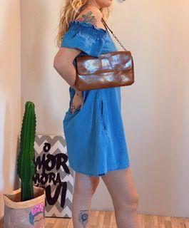 Bolsa carteiro caramelo